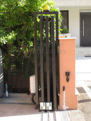telescopic 3-wing metal gate