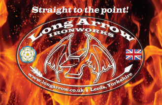Flying Anvil - Long Arrow Ironworks Logo