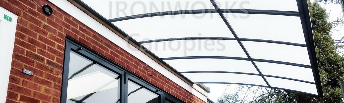opal-white polycarbonate canopy