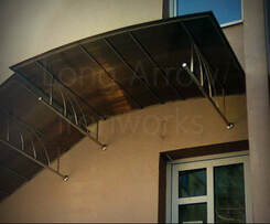 Stainless Steel Main Entrance Stairs Canopy