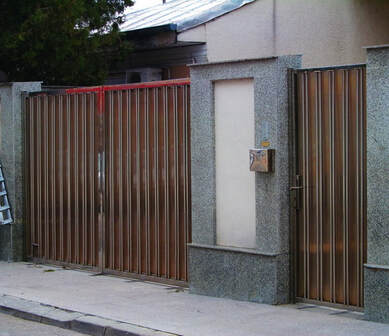 Stainless Steel Pedestrian and Car Gate